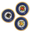 TOSCANA: Fruit wall plates Apple, Pear, Grape (Set of Three) (8D)