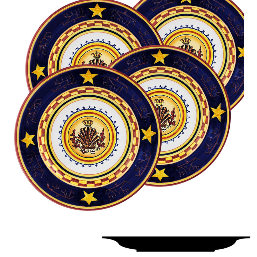 PALIO DI SIENA: NICCHIO (Shell) Salad Plate SET of four (85D)