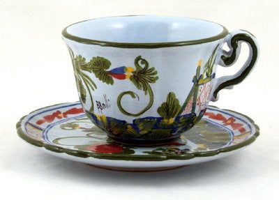 FAENZA: Coffee Tea Cup and Saucer
