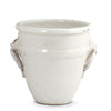 SCAVO GEMMA: Round Small Planter Cachepot with Tuscan Lion Heads and Rings