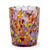 MURANO MURRINA STYLE:  Crumpled Water Tumbler Glass fully hand made (Amber Mix)