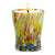 ITALIAN GLASS: Murano Style Crumpled Candle Green Mix