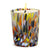 ITALIAN GLASS: Murano Style Crumpled Candle Purple Mix