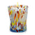 ITALIAN GLASS: Murano Style Crumpled Candle Turquoise Mix