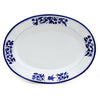ARABESCO BLU: Oval Platter
