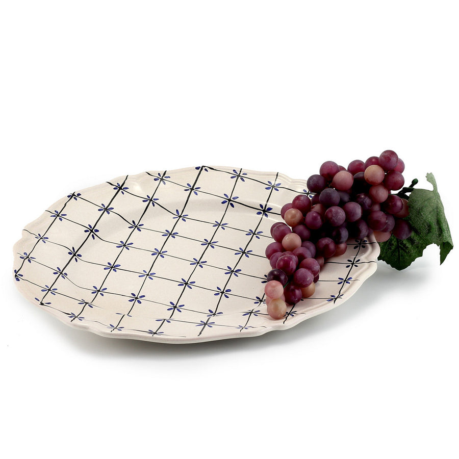 BLU STELLA: Oval Serving Platter [R]