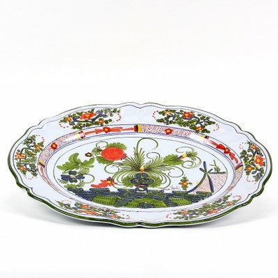 FAENZA-CARNATION: Oval Turkey Platter