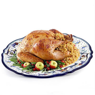 VECCHIA DERUTA: Large Oval Turkey Platter