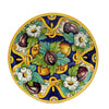 MAJOLICA TOSCANA: Wall Plate with Tuscan Theme Figs/Flowers (14D)