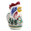 ORVIETO GREEN ROOSTER: Rooster of Fortune pitcher (1 Liter 34 Oz 1 Qt)