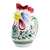 ORVIETO VERDE: Rooster of Fortune pitcher (1 Liter 34 Oz 1 Qt)