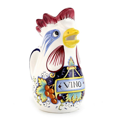 IN VINO VERITAS: Rooster of Fortune pitcher (1 Liter 34 Oz 1 Qt)