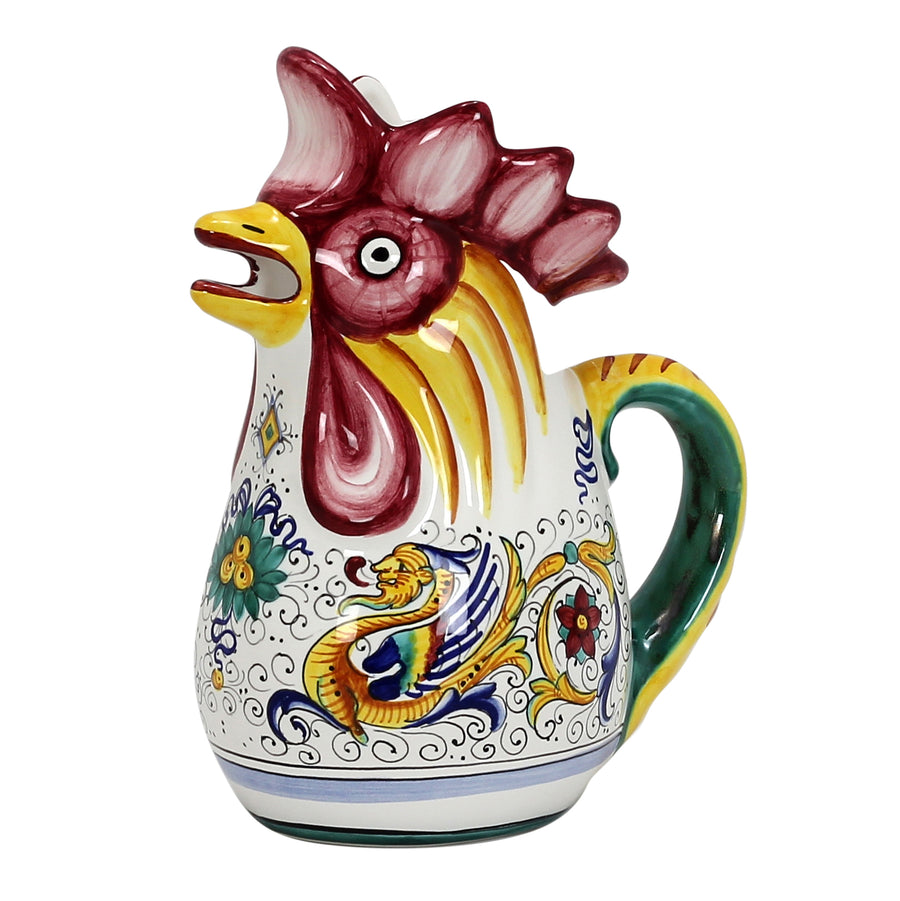 RAFFAELLESCO: Rooster of Fortune pitcher DeLuxe (1 Liter 34 Oz 1 Qt) [R]