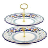VECCHIA DERUTA: Two Tier Tid Bit Tray