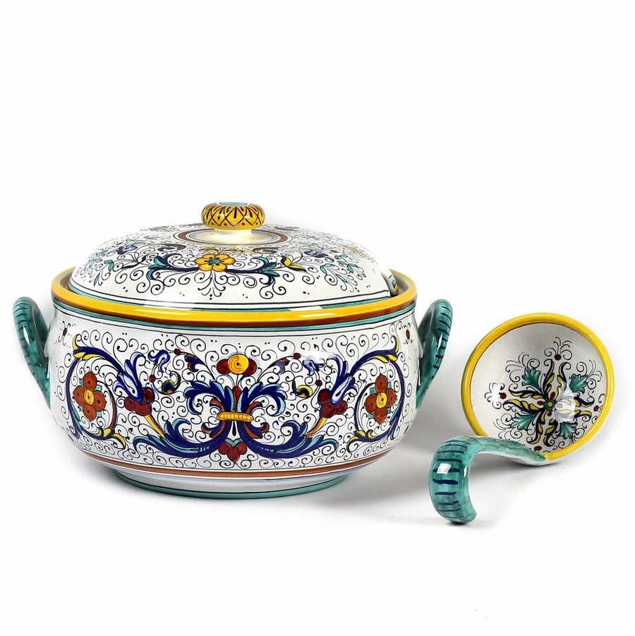 RICCO DERUTA: Round Soup Tureen with Ceramic Laddle