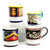 DERUTA MUGS: Set of FOUR Mugs as shown (019-ELE.VNZ.SPO.POM)