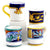 DERUTA MUGS: Set of FOUR Mugs as shown (019-GDO.PRN.EXC.ROY)
