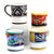 DERUTA MUGS: Set of FOUR Mugs as shown (019-RNT.TIZ.ROY.EXC)