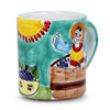 LA MUSA: Jumbo Mug 16 Oz Sicilian Grape Harvest