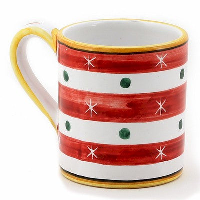 CHRISTMAS: Mug RED STRIPES (10 Oz)