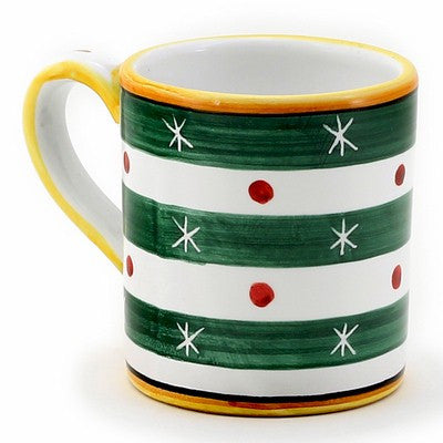 CHRISTMAS: Mug GREEN STripes (10 Oz)