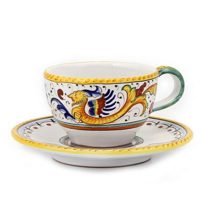RAFFAELLESCO: Tea Coffee Cup and Saucer
