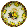 MAJOLICA TOSCANA: Wall Plate with Lemons F. Bordeuax and Fruit Center (28D)