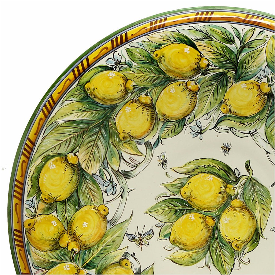 MAJOLICA LIMONI MONTELUPO: Extra Large wall plate centerpiece (32D)