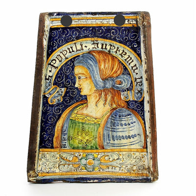MAJOLICA: Reclaimed Tuscan Roof Tile with Noblewoman profile