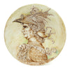 LEONARDO: One of a Kind Large Wall Plate with Nobleman by Francesca Niccacci