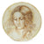 LEONARDO: One of a Kind Large Wall Plate with Noblewoman by Francesca Niccacci