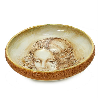 LEONARDO: One of a Kind Large Centerpiece with Noblewoman by Francesca Niccacci