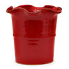 SCAVO GIARDINI-GARDEN: Extra Large Planter Vase with fluted rim RED