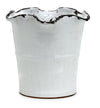 SCAVO GIARDINI-GARDEN: Extra Large Planter Vase with fluted rim WHITE