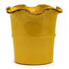 SCAVO GIARDINI-GARDEN: Extra Large Planter Vase with fluted rim YELLOW