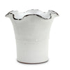 SCAVO GIARDINI-GARDEN: Large Planter Vase with fluted rim WHITE