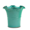 SCAVO GIARDINI-GARDEN: Large Planter Vase with fluted rim AQUA TIFFANY TEAL