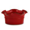 SCAVO GIARDINI-GARDEN: Large Low Ball Planter Vase with fluted rim RED