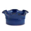 SCAVO GIARDINI-GARDEN: Large Low Ball Planter Vase with fluted rim  AVIATOR DARK BLUE