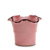SCAVO GIARDINI-GARDEN: Medium Planter Vase with fluted rim  PALE ROSE' PINK