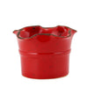 SCAVO GIARDINI-GARDEN: Small Planter Vase with fluted rim RED