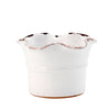GIARDINI-GARDEN SCAVO: Small Planter Vase with fluted rim WHITE