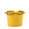GIARDINI-GARDEN SCAVO: Small Planter Vase with fluted rim YELLOW