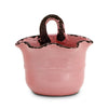 SCAVO GIARDINI-GARDEN: Wall Planter Vase with fluted rim  PALE ROSE' PINK