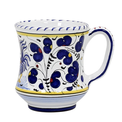 ORVIETO BLUE ROOSTER: Concave Deluxe Mug (10 Oz.)