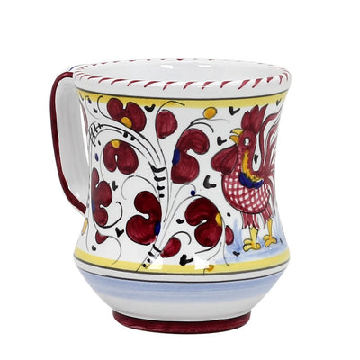 ORVIETO RED ROOSTER: Concave Deluxe Mug (10 Oz.)