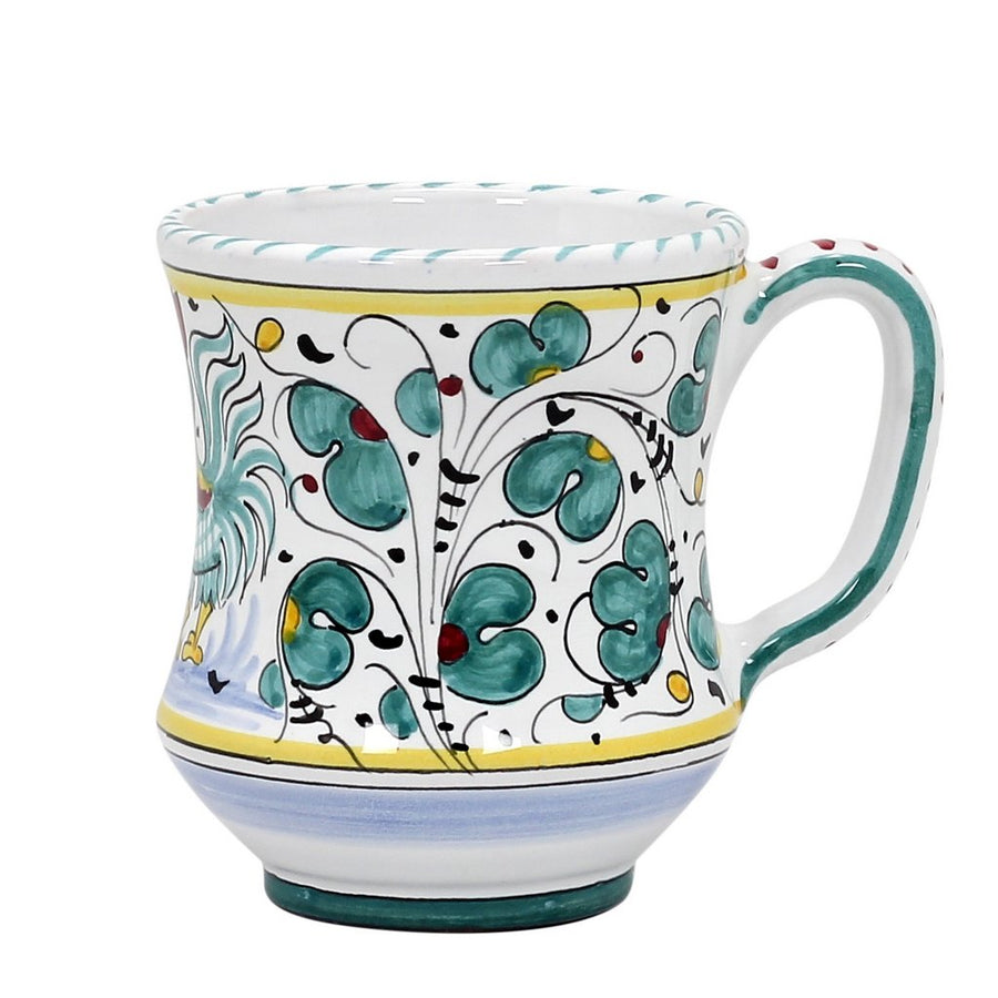ORVIETO GREEN ROOSTER: Concave Deluxe Mug (10 Oz.)