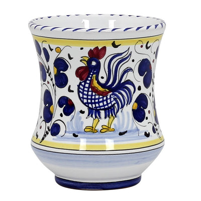 ORVIETO BLUE ROOSTER: Concave Deluxe Large Mug (17 Oz.)