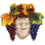 ROBBIANA MASK OF PROSPERITY: Ceramic Mask 'Bacchus' DeLuxe Edition ~ Fully hand made (Medium)