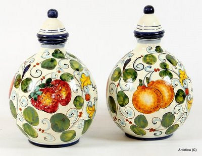 TOSCANA: Tuscan bottles (Set of two) Sciroppo di Arance and Fragole (Oranges and Strawberries Syrup)